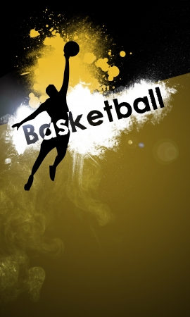 Basketball background with space  poster, web, leaflet, magazine  photo