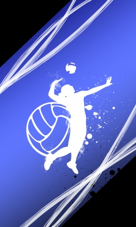 Volleyball background with space  poster, web, leaflet, magazine  Stock Photo