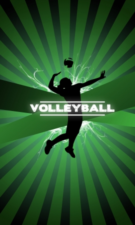 Volleyball background with space  poster, web, leaflet, magazine  photo