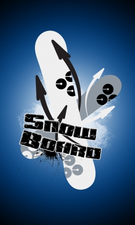 spattered: Snowboard background with space (poster, web, leaflet, magazine)