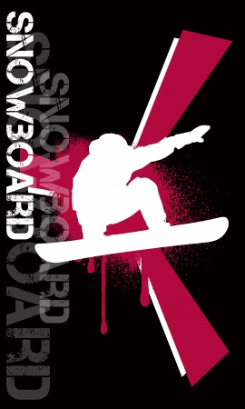 Snowboard background with space (poster, web, leaflet, magazine)