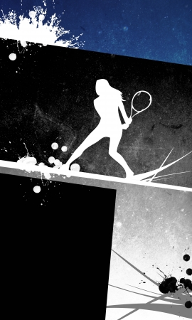 Tennis background with space (poster, web, leaflet, magazine) photo