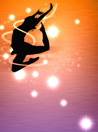 clubber: Dance girl background with space  poster, web, leaflet, magazine