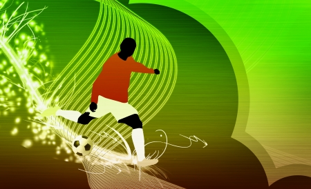 Soccer background with space  poster, web, leaflet, magazine Stock Photo - 14033093