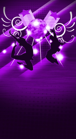 street party: Street dance background  poster, web, leaflet, magazine