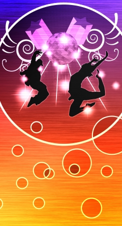 dance pose: Street dance background  poster, web, leaflet, magazine