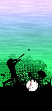 Abstract baseball background with space  poster, web, leaflet, magazine  photo
