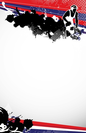 wrestling background with space  poster, web, leaflet, magazine  photo