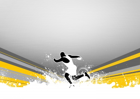 Discus thrower background with space (poster, web, leaflet, magazine) photo