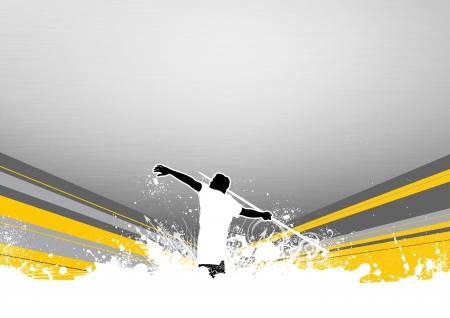 javelin throw: javelin throw background with space (poster, web, leaflet, magazine)