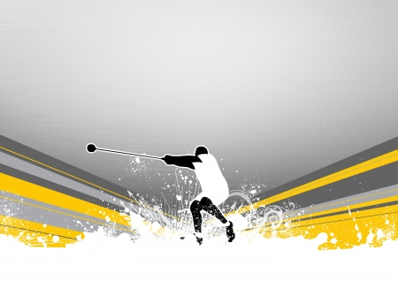 Hammer Throw background with space (poster, web, leaflet, magazine) photo