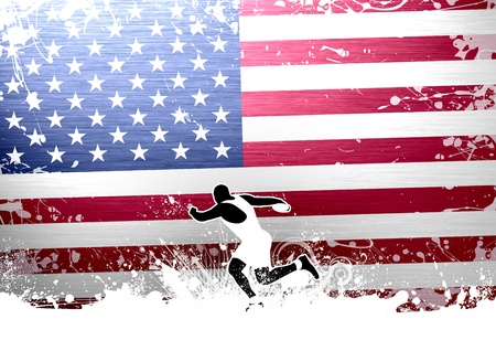 Discus thrower background with space (poster, web, leaflet, magazine) Stock Photo - 14033328