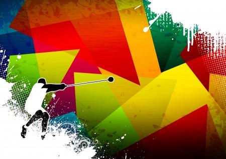 lancer marteau: Lancer du marteau fond avec l'espace affiche, web, d�pliant, le magazine Banque d'images