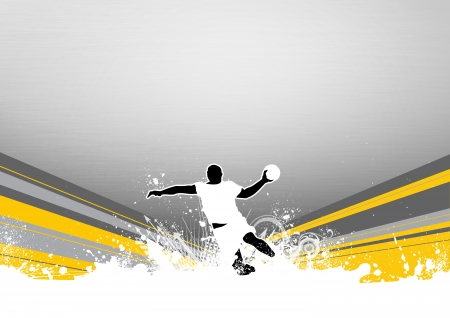 Handball shot background with space  poster, web, leaflet, magazine  photo