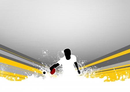 tischtennis: Tischtennis Hintergrund mit Platz Plakat, Web-, Prospekt, Zeitschrift Lizenzfreie Bilder