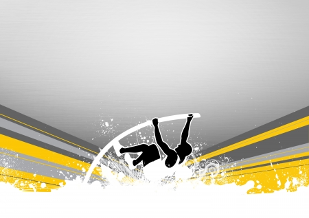 high jump: pole vaulting background with space  poster, web, leaflet, magazine