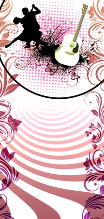 dance shadow: Passion dance background with space (poster, web, leaflet, magazine)