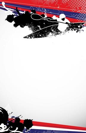 whitewater: Slalom kayak background with space (poster, web, leaflet, magazine) Stock Photo