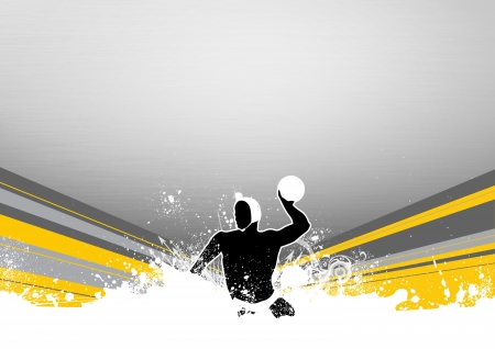 polo sport: Water polo background with space (poster, web, leaflet, magazine)