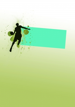 Jumping, basketball background (poster, web, leaflet, magazine) Stock Photo