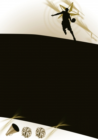 Jumping, basketball background (poster, web, leaflet, magazine) photo