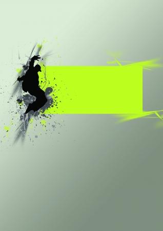 musique dance: Street dance de fond (affiche, web, plaquette, magazine)
