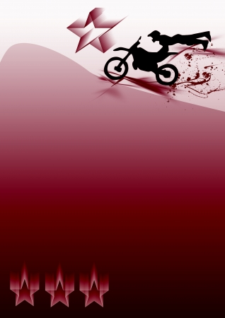 Motocross jumping background (poster, web, leaflet, magazine) photo