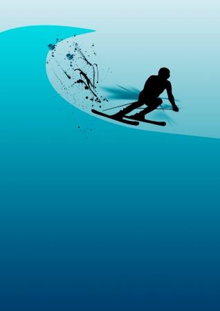 spattered: Skying man background (poster, web, leaflet, magazine)