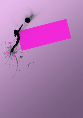 Volleyball background with space (poster, web, leaflet, magazine) photo