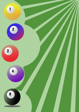 Billiard background with space (poster, web, leaflet, magazine) photo