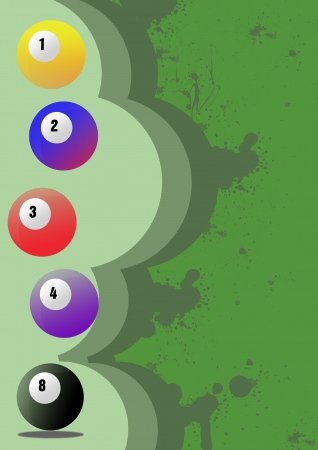 poolball: Billiard background with space (poster, web, leaflet, magazine)
