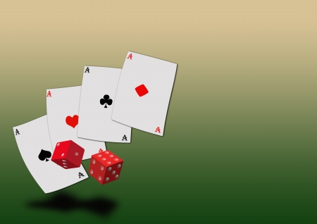Grunge poker background with space (poster, web, leaflet, magazine) Stock Photo - 14094145