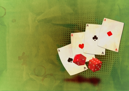 Grunge poker background with space (poster, web, leaflet, magazine) photo