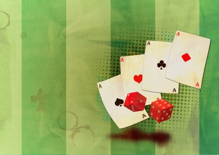 Grunge poker background with space (poster, web, leaflet, magazine) Stock Photo - 14094227