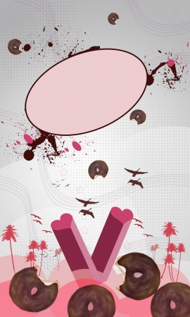 lolli: Sweet Donuts background with space (poster, web, leaflet, magazine)
