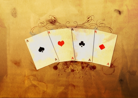 Grunge poker background with space (poster, web, leaflet, magazine) Stock Photo - 14094233