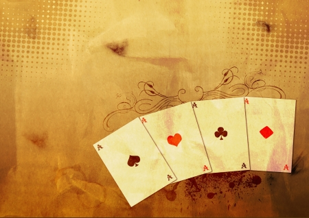 Grunge poker background with space (poster, web, leaflet, magazine) Stock Photo - 14094234