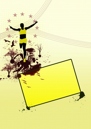 orienteering: Orienteering background with space (poster, web, leaflet, magazine)