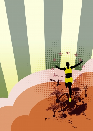 Orienteering background with space (poster, web, leaflet, magazine) photo