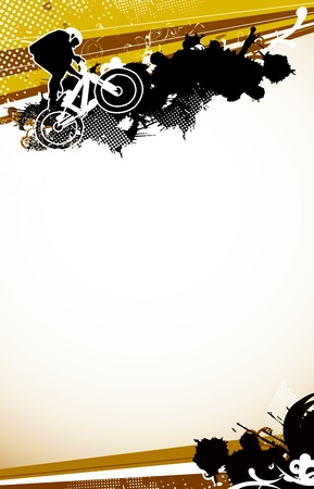 fmx: Abstract grunge BMX jumping sport background with space Stock Photo