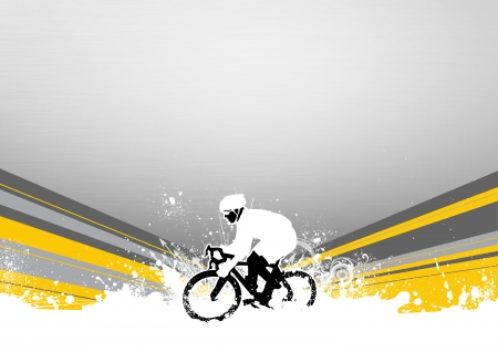 sporting activity: Abstract grunge speed bicycle sport background with space