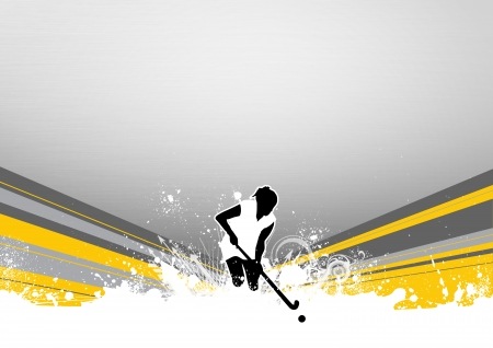 adversary: Abstract grunge Field Hockey sport background with space