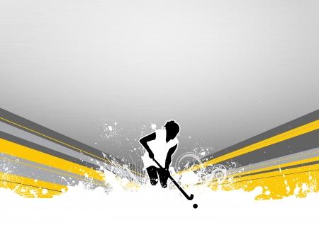 hockey cesped: Resumen del campo de hockey del grunge historial deportivo con el espacio Foto de archivo