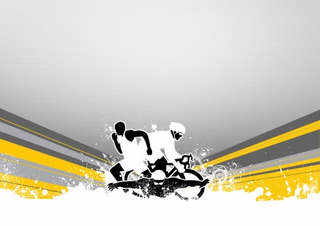 Abstract grunge triathlon sport background with space Stock Photo