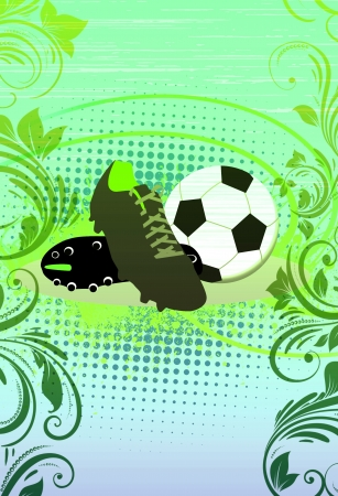soccer shoes: Abstract grunge Soccer shoes background with space