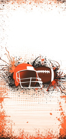 american football background: Abstract grunge American football background with space