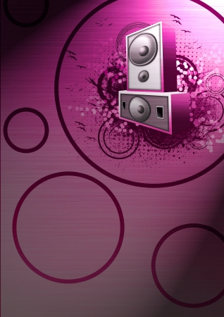 electronic music: Abstract grunge music Speaker background with space Stock Photo