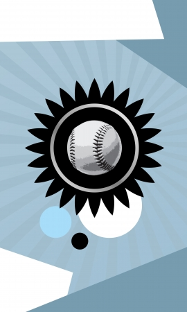 Baseball objects and space on grunge Abstract graphic Background photo