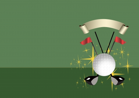 Abstract color golf sport background with space  photo