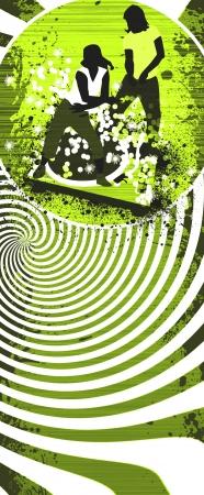 electro: Abstract Grunge Zumba Fitness Hintergrund mit Raum